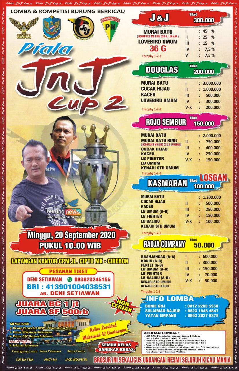 Kompetisi Burung Berkicau Cirebon 20 September 2020 ( JnJ Cup 2 )